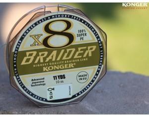 Fir Konger Braider X8 Olive Green 0.10mm 10m