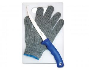 Set cuțit Ardent Fillet Knife 7'' + mănușă + tocător