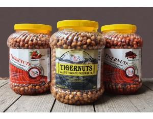 Alune tigrate preparate Strawberry-Chilli fără zeamă borcan 2kg