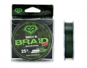 Fir Carp Pro Diamond Shock Braid X8 Sinking 0.16mm 25lbs 50m