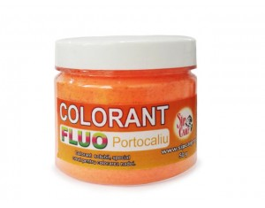 Colorant praf fluo portocaliu 50g