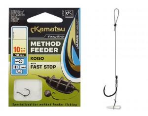 Cârlige legate Kamatsu Method Feeder Koiso cu Fast stop Nr: 10 0.22mm