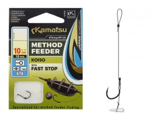 Cârlige legate Kamatsu Method Feeder Koiso cu Fast stop Nr: 6 0.30mm