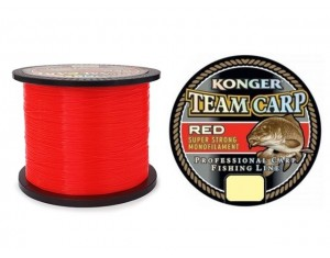 Fir Konger Team Carp Red 0.28mm 1000m