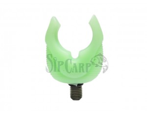 Set suport lansetă cauciuc fluo verde