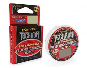 Fir Kamatsu Techron Fluorocarbon 100% Toray 0.128mm 1.75kg 20m