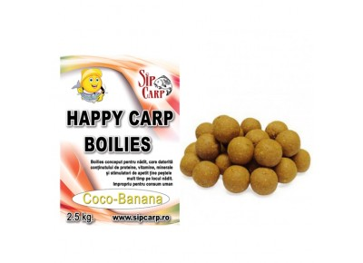 Boilies Happy Carp SipCarp Coco-Banana