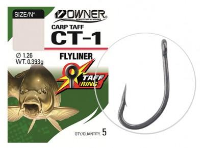 Cârlige Owner CT-1 Carp Taff Flyliner